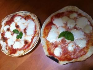 pizza e focaccia su piastra