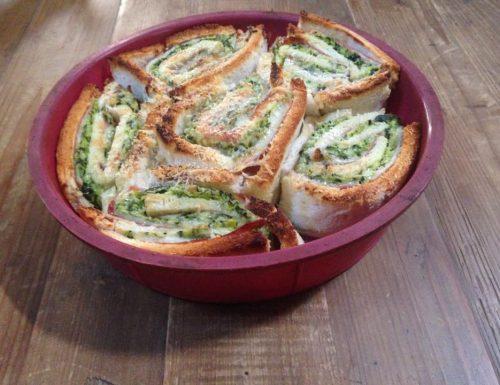 rose di pancarrè con zucchine e formaggio