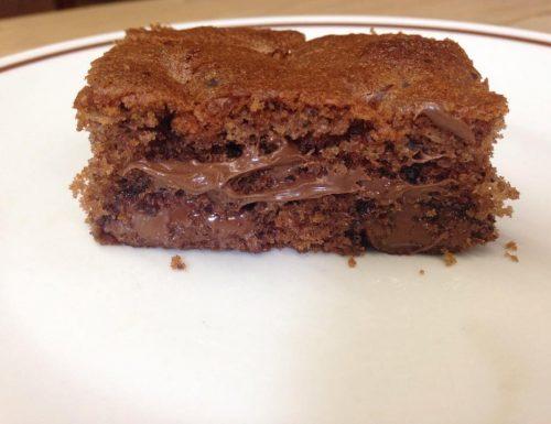 torta semplice alla nutella