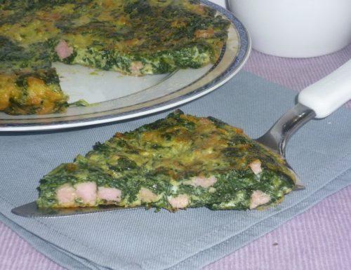 frittata di spinaci cotta al forno