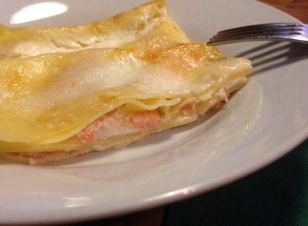 lasagna robiola e salmone affumicato