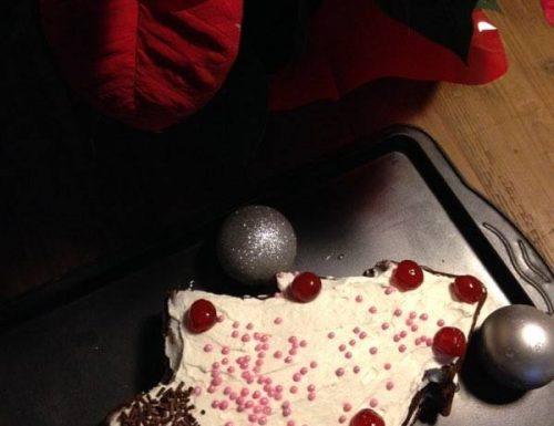 albero di Natale panna e cacao
