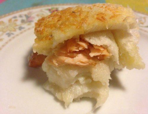 lasagnetta di pancarrè e salmone -ricetta del riciclo