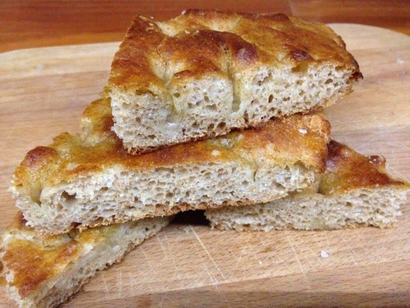 focaccia con farina integrale e patate