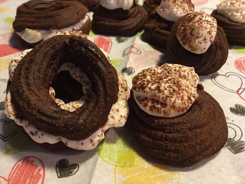 zeppoline e piccoli paris brest al cacao