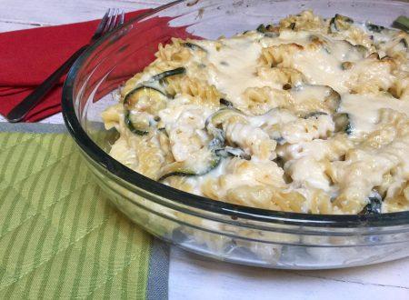 pasta al forno con zucchine e taleggio
