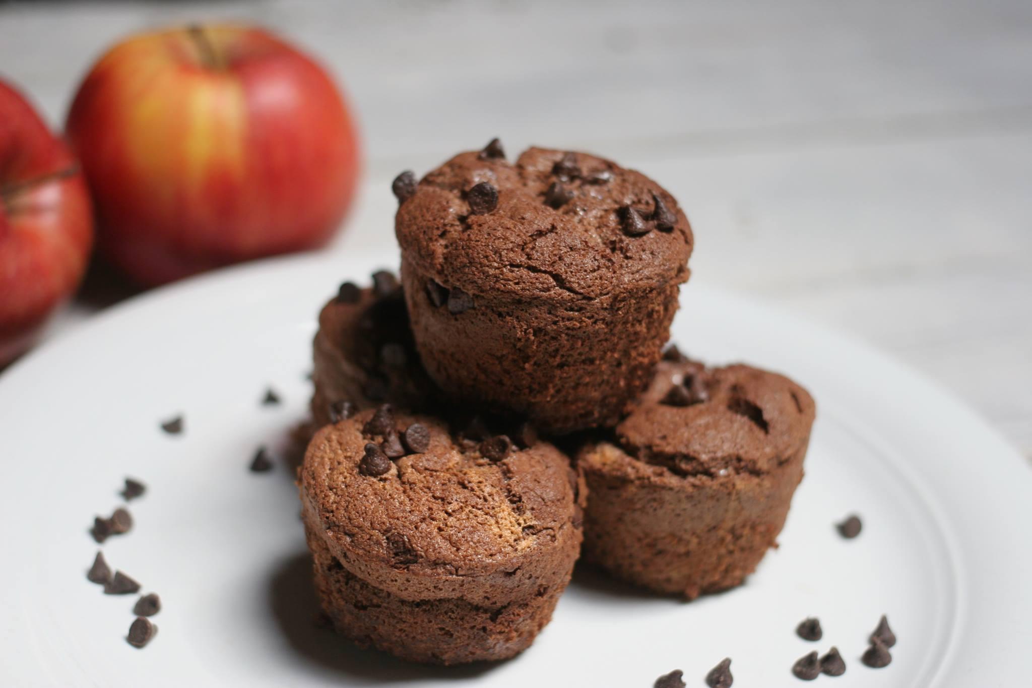 muffin leggeri con gocce di cioccolato