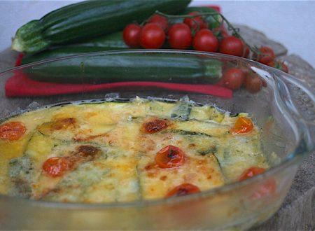 pasticcio veloce di zucchine e scamorza
