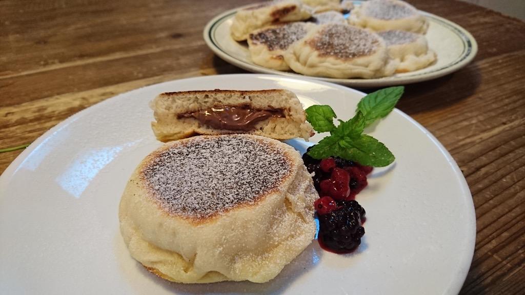 muffin inglesi con nocciolata