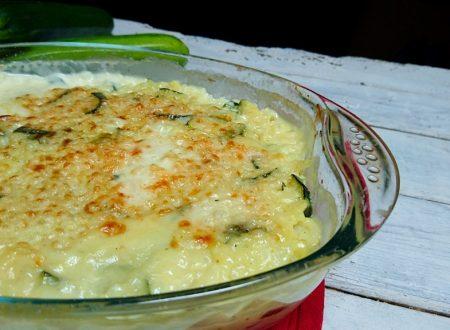 pirofila di riso zucchine e stracchino