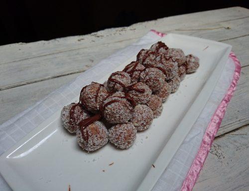 tartufi cocco nocciolata e ricotta