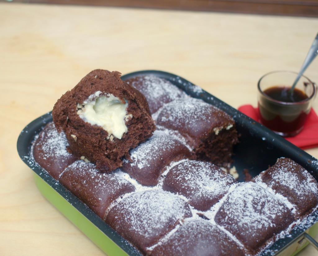 danubio al cacao con ricotta e cioccolato bianco