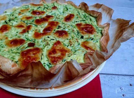 frittata di zucchine in crosta con formaggio