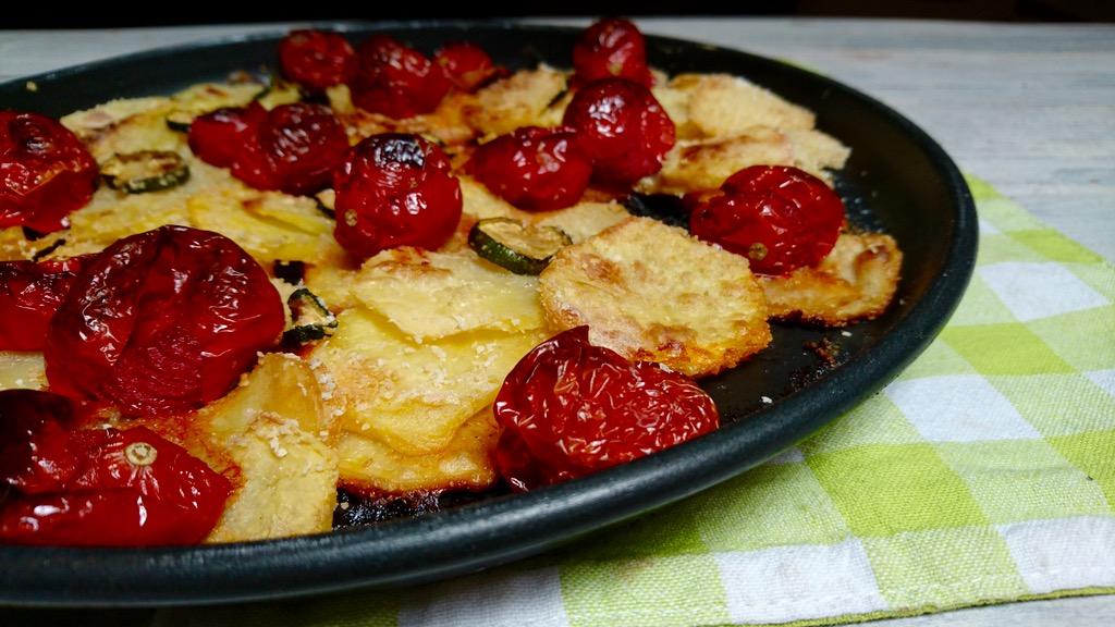 verdure croccanti in piatto crisp