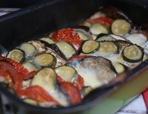 teglia di verdure al forno filanti