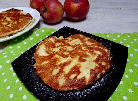frittatine dolci di mele cotte in padella