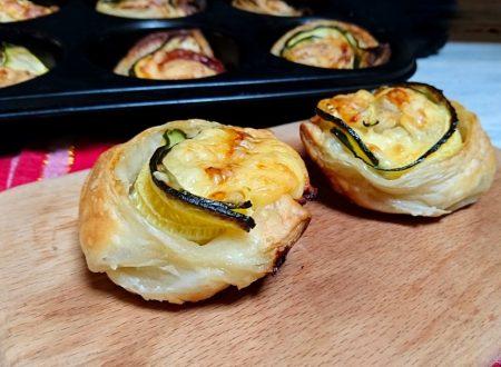 rose di sfoglia alle zucchine e formaggio