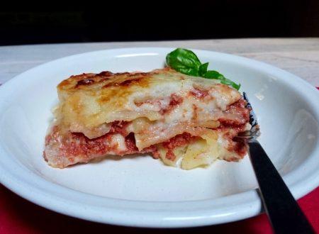 lasagna di patate e ragù vegan