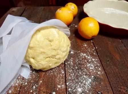 pasta frolla sablè profumata all'arancia