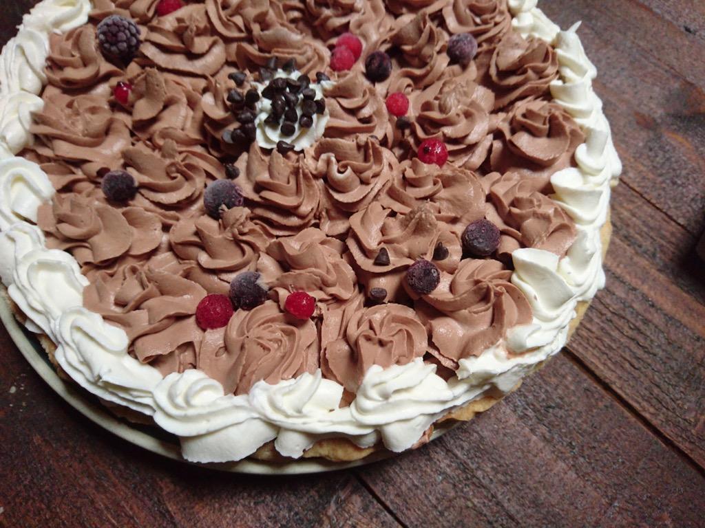 crostata con crema cioccolato e mascarpone