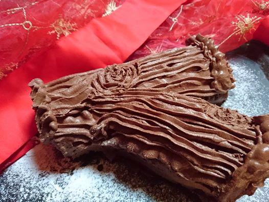 tronchetto di Natale al cioccolato e mascarpone