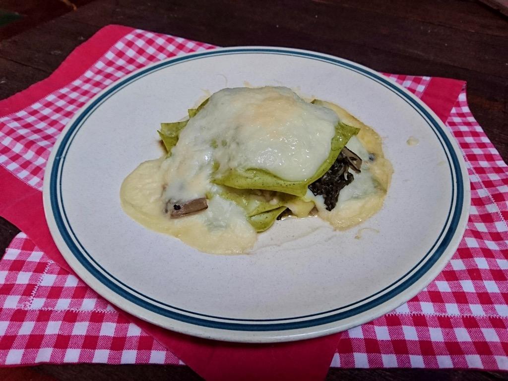lasagnetta con coste d'argento e asiago