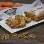 plum cake semiintegrale con carote noci e cioccolato