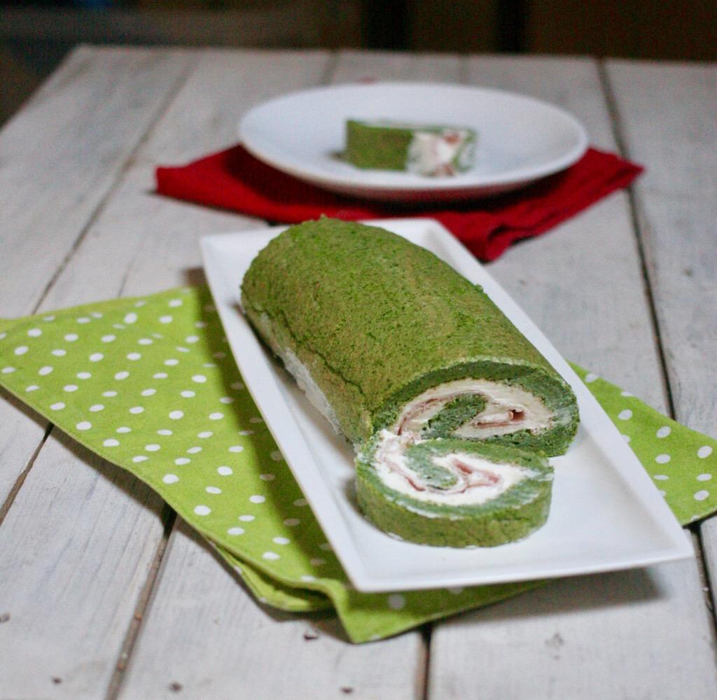 rotolo agli spinaci con crema alla ricotta