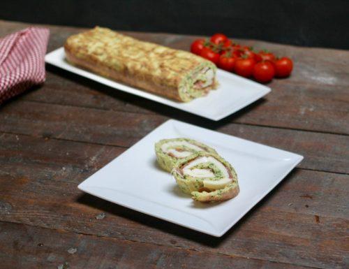 rotolo di zucchine con crudo e mozzarella