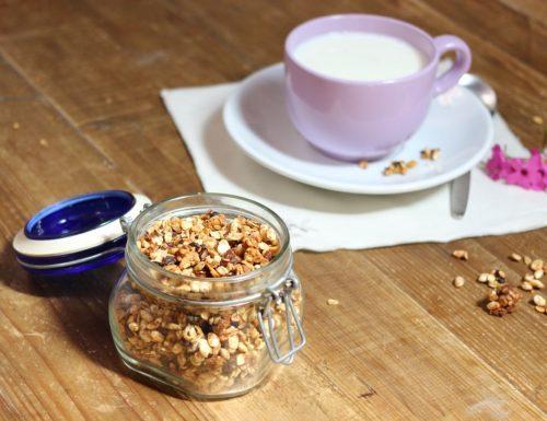 granola per la colazione con cioccolato e frutta secca