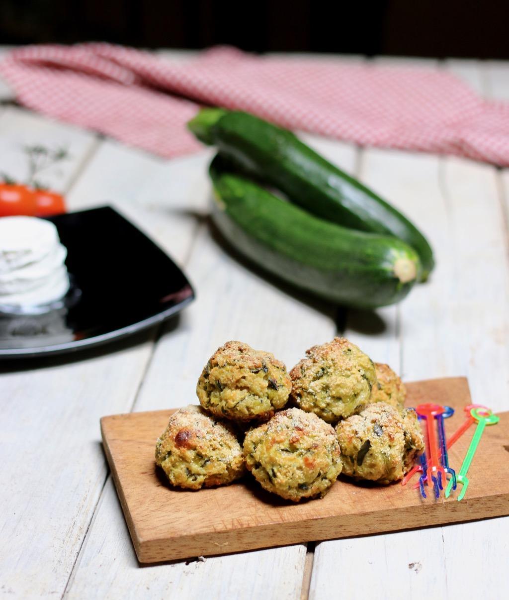 polpettine al forno con zucchine e robiola