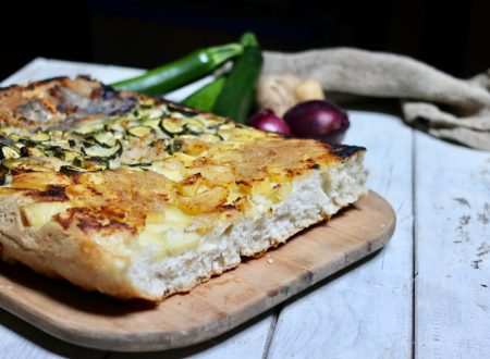 Focaccia alle verdure rovesciata con pasta madre