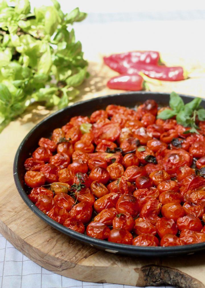 Pomodorini profumati in piatto crisp creando si impara - Riscaldare casa a basso costo ...