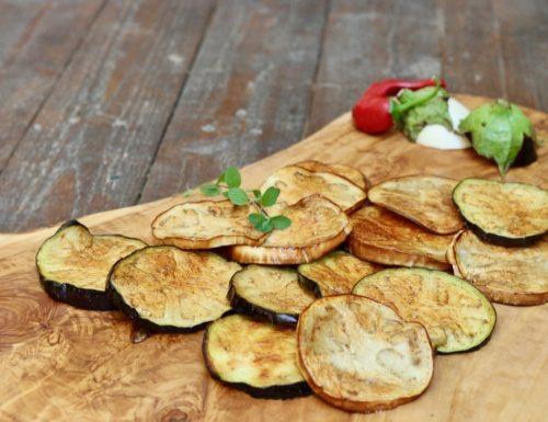 melanzane fritte che assorbono poco olio
