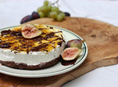 cheese cake autunnale con fichi e cioccolato