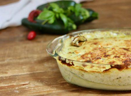 lasagna di zucchine con pesto e speck