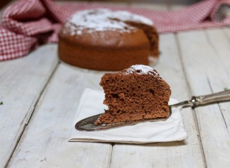 torta alta e soffice al cioccolato con tutto