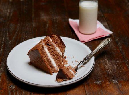 torta al cioccolato con crema al latte