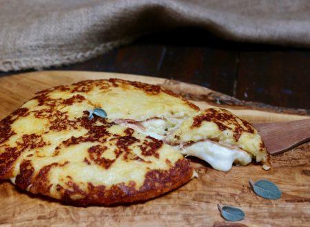 torta di patate filante cotta in padella