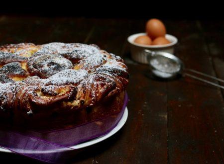 torta delle rose con crema e gocce di cioccolato