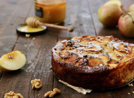 torta invisibile di mele miele e noci
