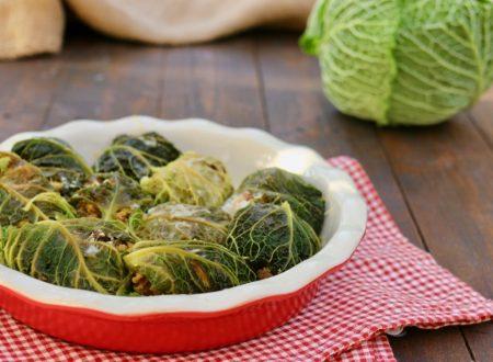 involtini di verza e salsiccia