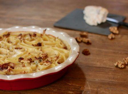 paccheri al forno con crema al gorgonzola e noci