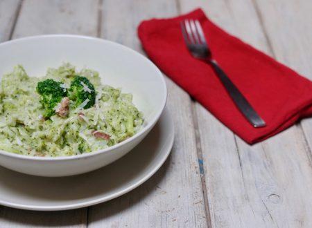 risotto con broccoli e pancetta