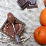namelaka al cioccolato fondente al profumo d'arancia