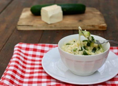 risotto di zucchine filante