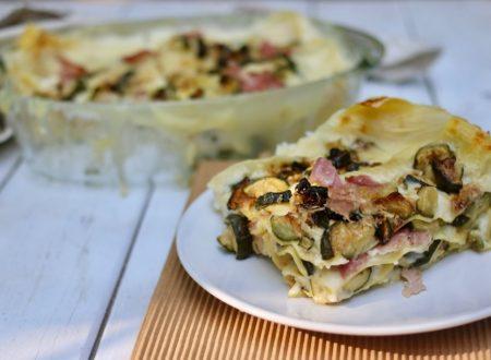 lasagna facile con zucchine e prosciutto