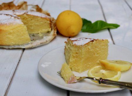 torta morbida alla ricotta e limone