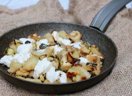 patate e zucchine sabbiose con stracchino