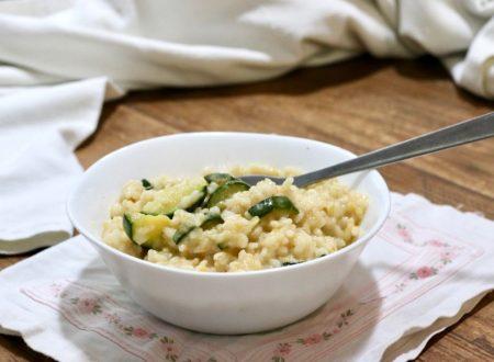 risotto cremoso con stracchino e zucchine